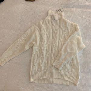 Express White Oversized Sweater